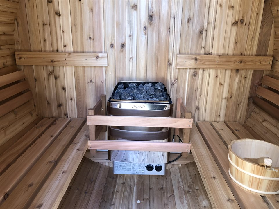Blackthorn Lodge Sauna interior
