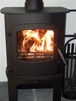 Charnwood wood burner and multifuel fire.