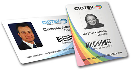 Example Plastic ID Cards