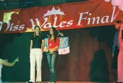 Rachel Rice pictured right and Big Brothers Imogen Thomas taken at the Miss Wales 2003 final