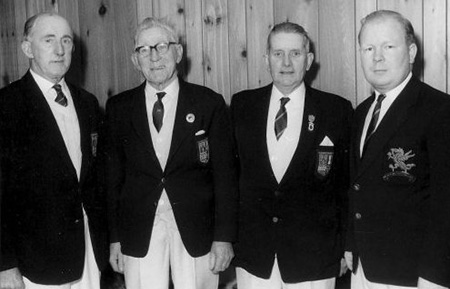 Commonwealth Games Fours Team Edinburgh 1970 - From left to right: Roy Jones Welsh Indoor International 1971